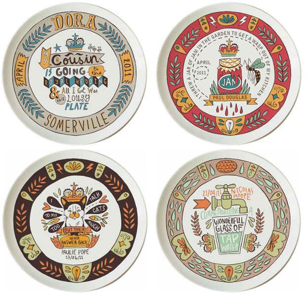 Commemorative twitter plates