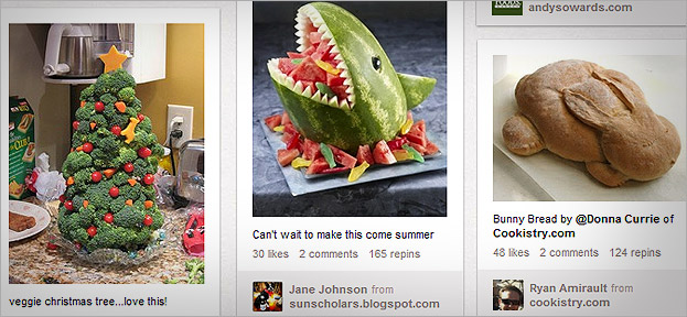 Creative food ideas on Pinterest