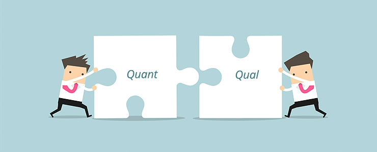 Combine quantitative and qualitative data