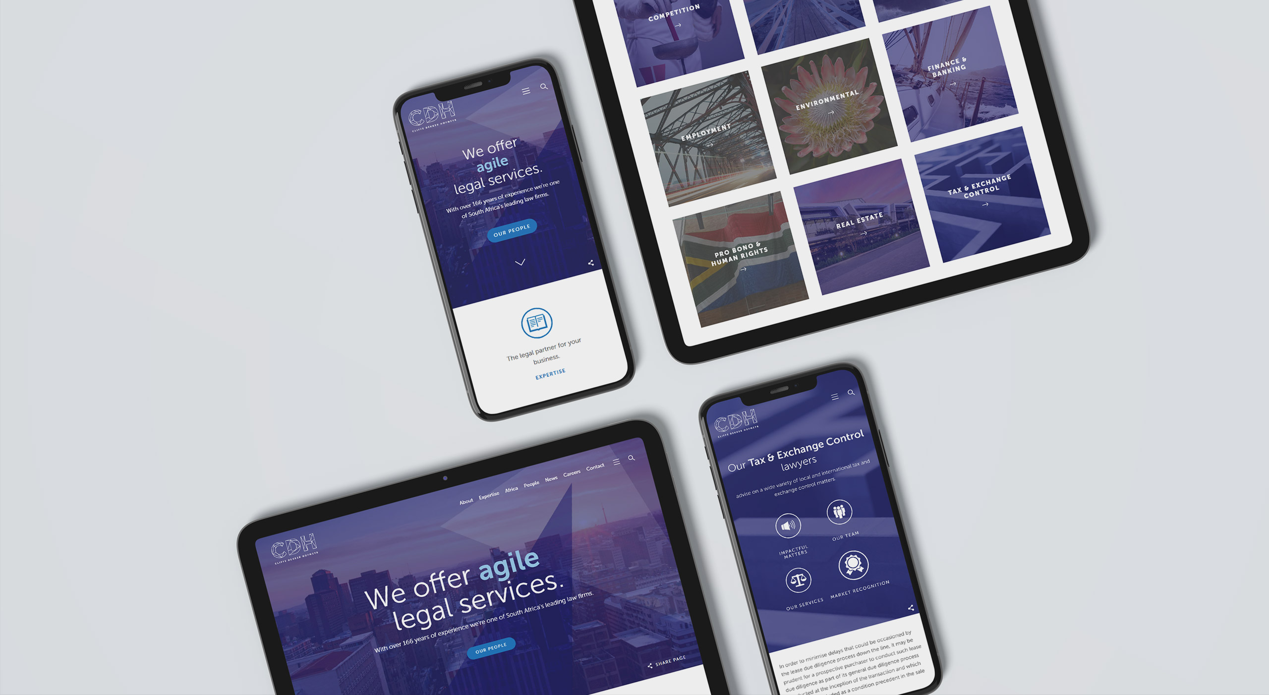 Law firm web design screens