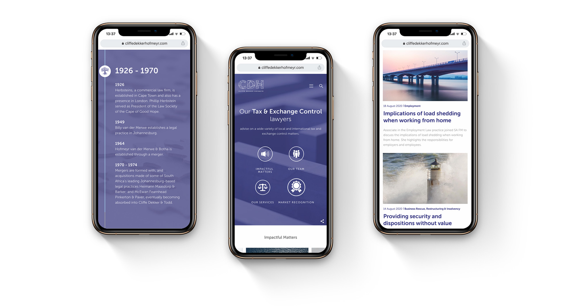 Law firm mobile design