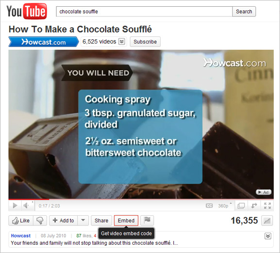 Embedding YouTube videos | OpenCms Knowledge Base