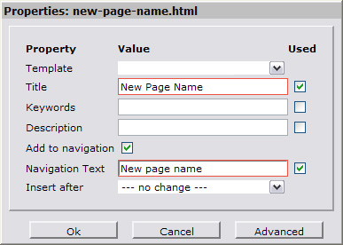 Rename page title and navigation text